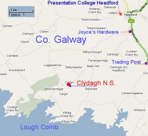 Map of Clydagh area