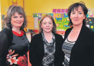 Sarah Steed, Catherine Moore and Carmel Ryan at the school event.