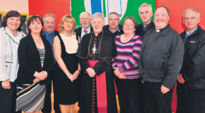 AT the celebration day were Cllr Mary Hoade, Carmel Ryan, PJ newell, eileen Gleeson, Principal, Brendan Mcnally, Chairman BOM, Archbishop Michael neary, Aidan Mannion, Bridie Gillon, Cannon Martin newell, Fr Ray Flaherty and Fr James O'Grady.