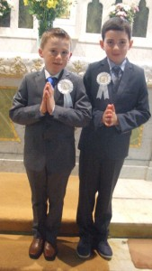 Eoin Mannion and Sean Bracken , First Holy Communion